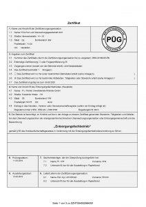 PUR Zertifikat Entsorgungsfachbetrieb - Seite 1